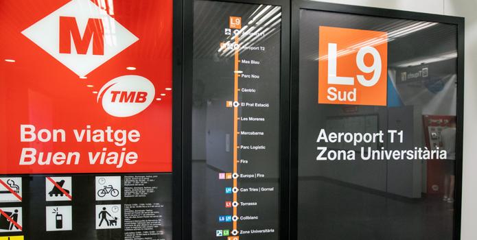 Flughafen El Prat Barcelona Metro